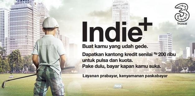 Iklan Three Indie+
