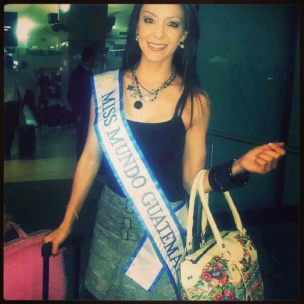 Karla Loraine Miss World Guatemala 2013