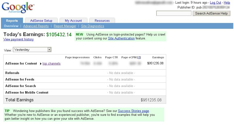 Fake Earning Adsense Generator