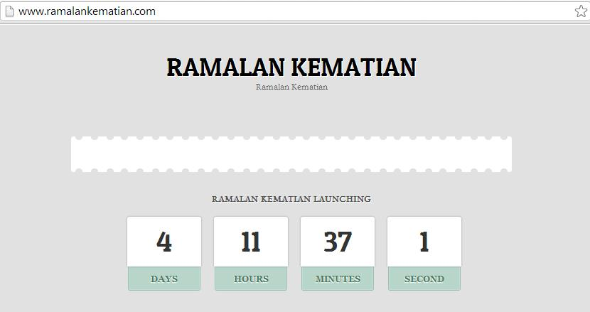Website Ramalan Kematian
