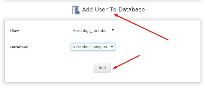 add user ke database